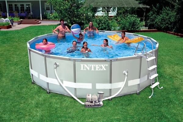 Intex Ultra-Metal-Frame Pool-Set 488x122 + Chlorinator 28328