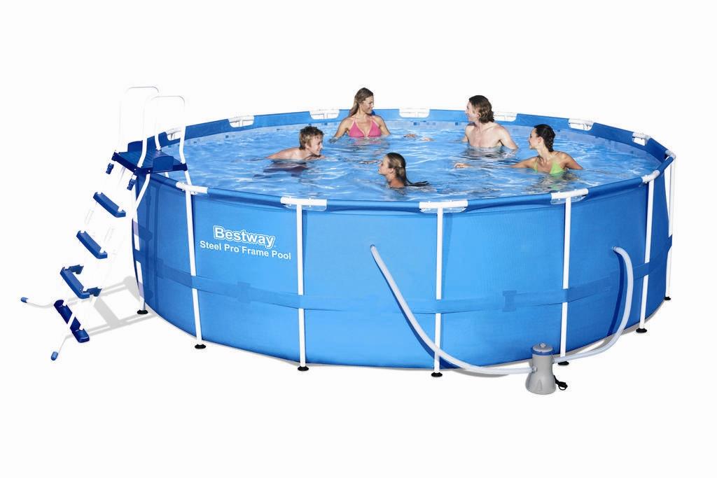 bestway steel pro pool set 457x122 56438 frame pools. Black Bedroom Furniture Sets. Home Design Ideas