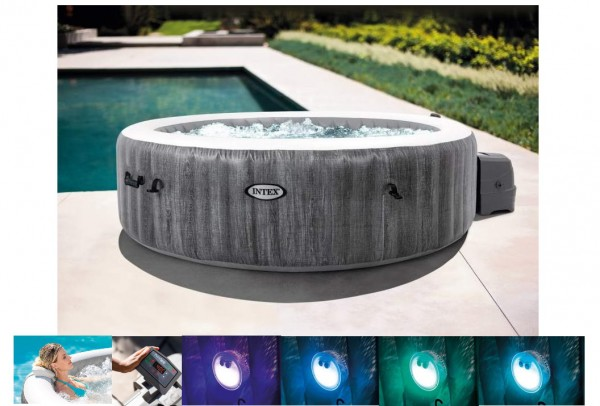 Whirlpool Intex Pure SPA Bubble GreyWood XXL Deluxe 28442