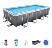 Bestway Frame Pool Set 488 x 244 Rattan 56996