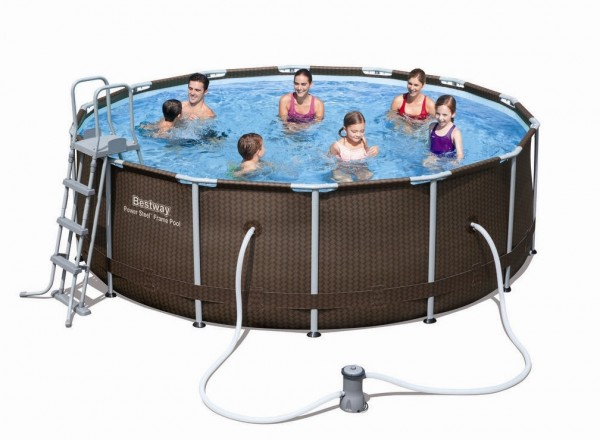 Bestway Steel Pro Pool Set 427x122 Rattan 56483