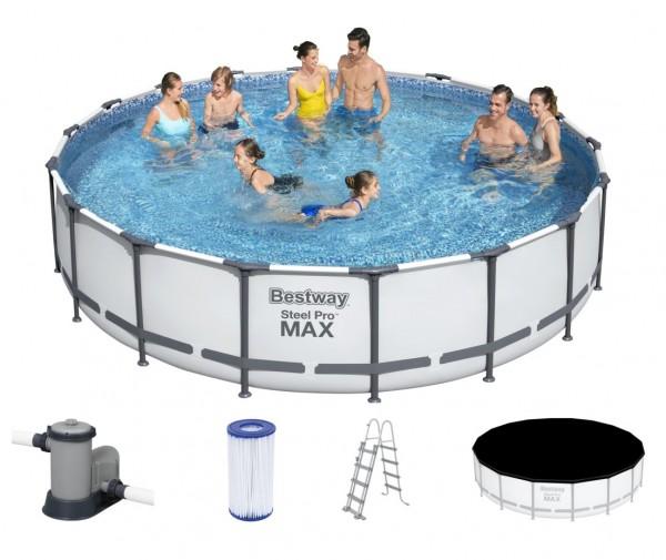 Bestway Steel Pro MAX Frame Pool Komplett Set 549x122 56462