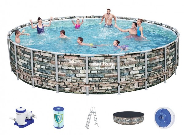 Bestway Steel Pro Pool Set 671x132 Multicolor 56889