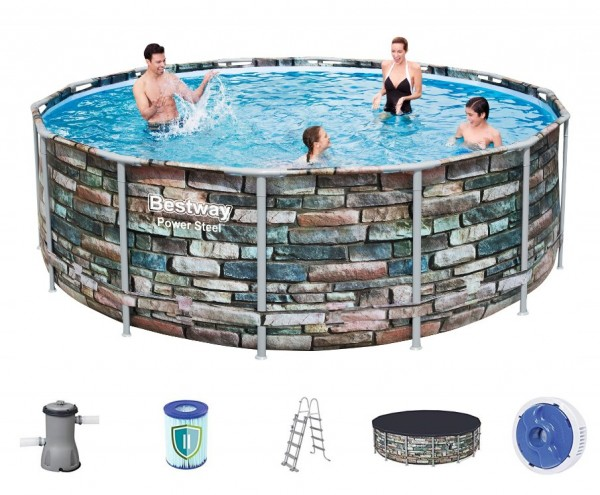 Bestway Steel Pro Pool Set 427x122 Multicolor 56993
