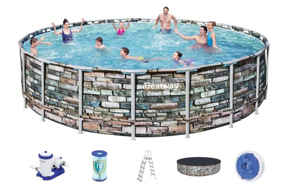 Bestway Steel Pro Pool Set 610x132 Multicolor 56883