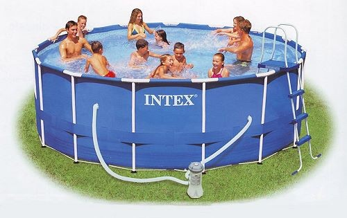 Intex Metal Frame Pool Komplett Set 457x122 ECO-Set 28242 GS