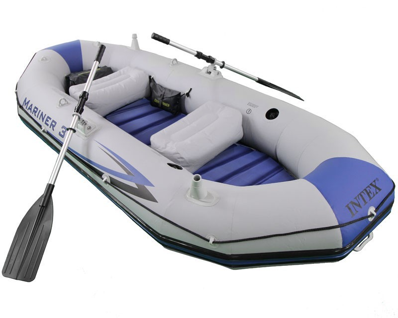 Intex 3 Personen Profi Boot-Set Mariner 3 68373