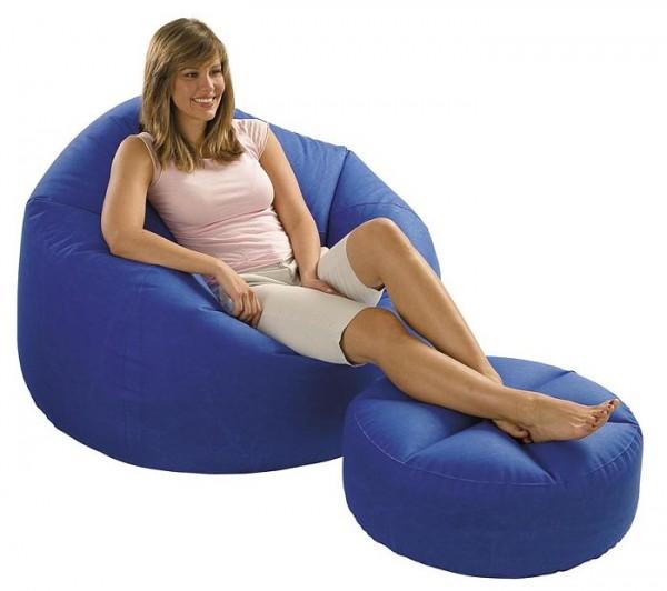 INTEX Comfy Sitzkissen SET Blau 68558