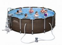Bestway Steel Pro Pool Set 427x122 Rattan 56483
