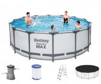 Bestway Steel Pro Max Frame Pool Komplett Set 427x122 5612X