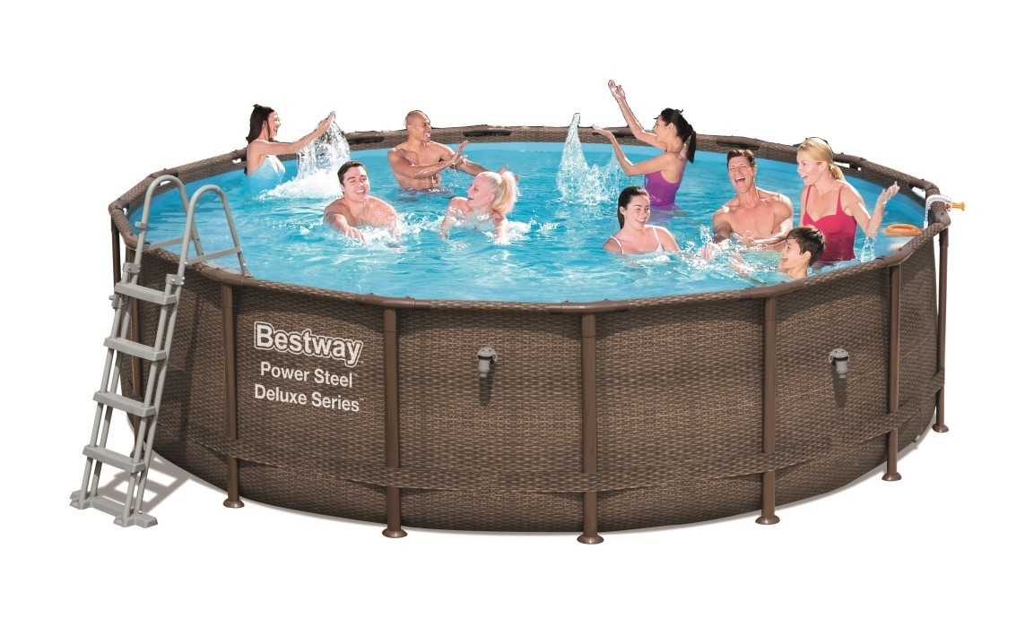 Bestway Power Steel Deluxe Pool Set 488x122 Rattan 56666