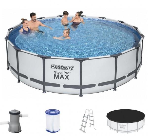 Bestway Metal Frame Pool Komplett Set 457x107 56488