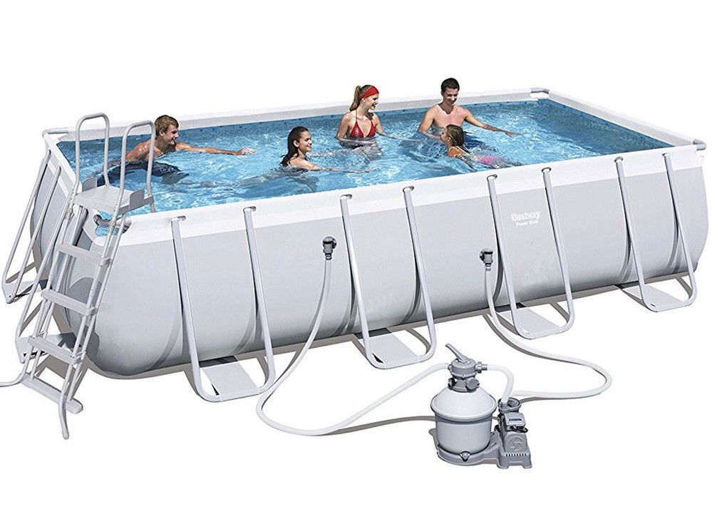 Bestway Rectangular Frame Pool Set 549 x 274 + Sandfilter 56466