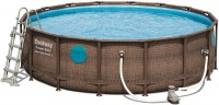 Bestway Power Steel Vista Pool Set 488x122 Rattan 56725
