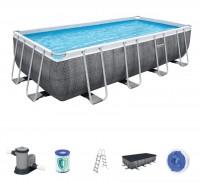 Bestway Frame Pool Set 549 x 274 Rattan 56998