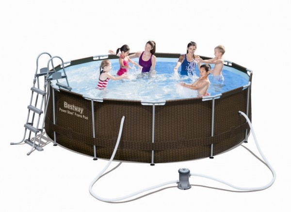Bestway Steel Pro Pool Set 366x100 Rattan 56379