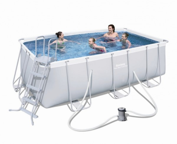 bestway frame pool set 412 x 201 56456 frame pools hersteller bestway pools pool gigant. Black Bedroom Furniture Sets. Home Design Ideas