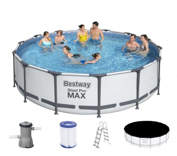 Bestway Steel Pro MAX Frame Pool Komplett Set 427x107 56950