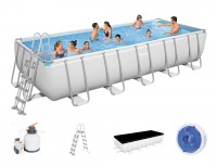 Bestway Power Steel Frame Pool Set 640 x 274 + Sandfilter 5612B
