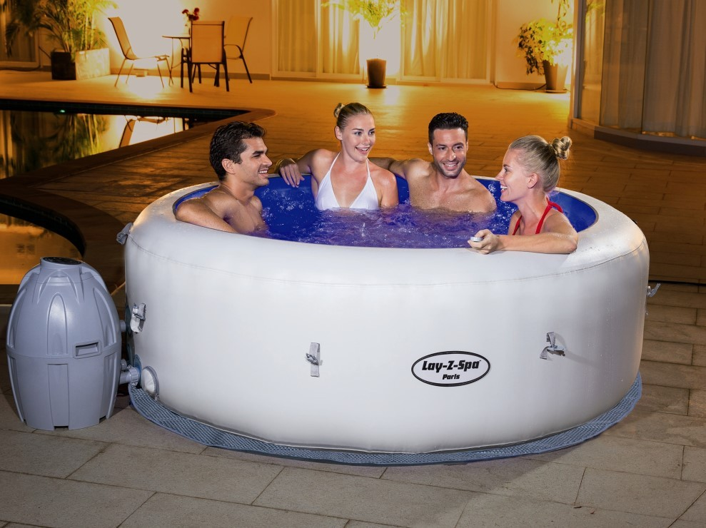 Bestway Whirlpool Lay-Z-SPA Paris beleuchtet 54148