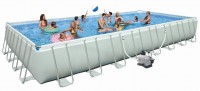 INTEX Swimming Pool Ultra-Frame MegaSet 975x488x132 + Salzwasser 28376