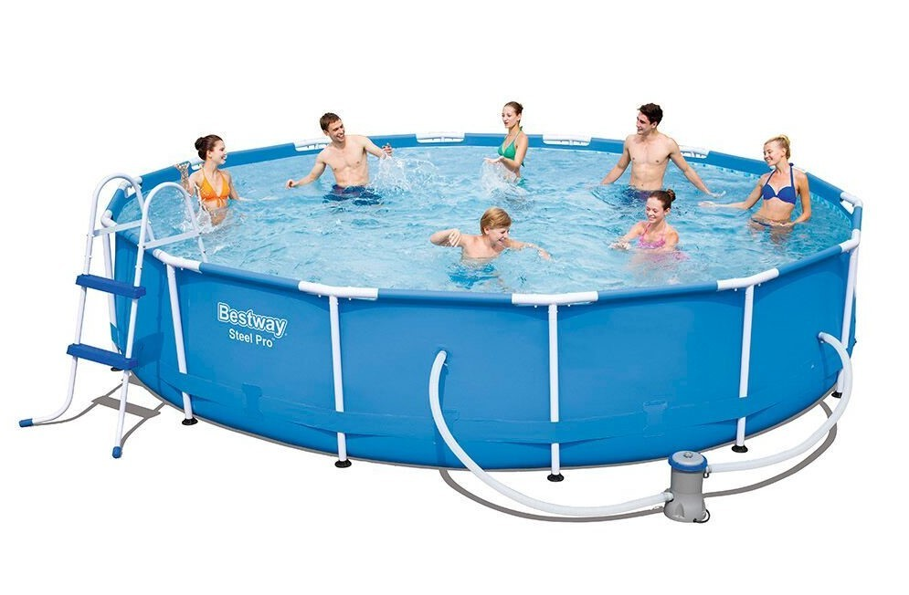 Bestway Metal Frame Pool Komplett Set 427x84 56598