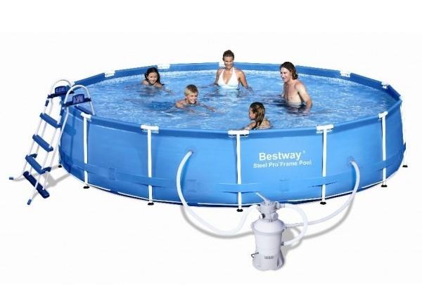 Bestway Steel Pro Frame Pool 457x91 mit Sandfilteranlage 56282