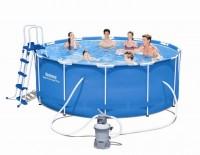 Bestway Steel Pro Frame Pool 366x122 mit Sandfilteranlage 56414