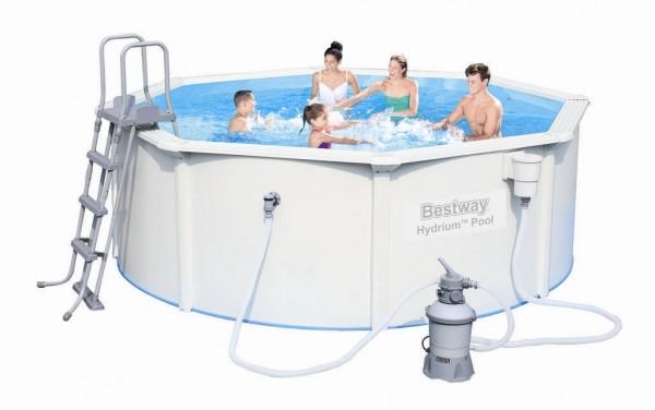 Bestway Stahlwandpool Set 300x120 + Sandfilter 56566
