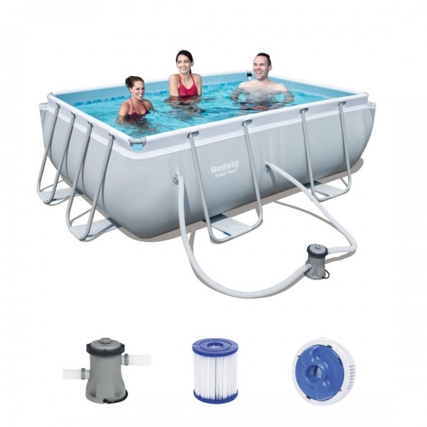 Bestway Power Steel Frame Pool Set 282 x 196 56629