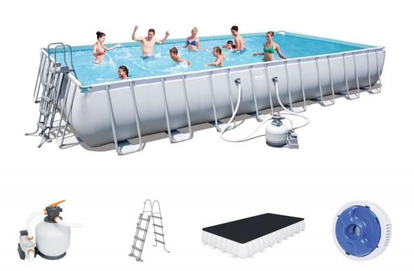 Bestway Power Steel Frame Pool Set 956 x 488 x 132 + Sandfilter 56623