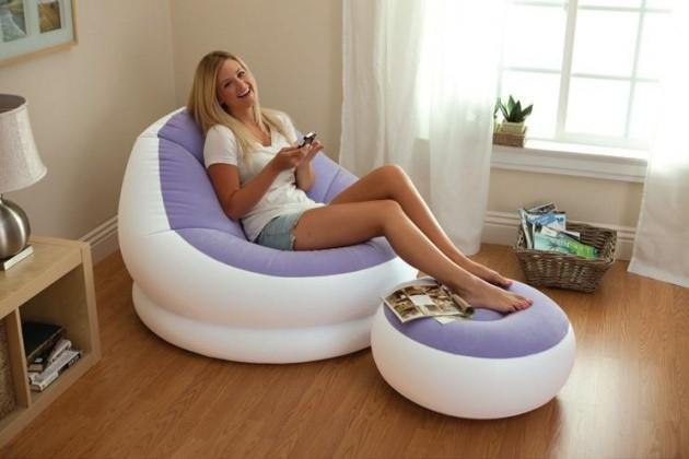 intex aufblasbarer sessel cafe chaise chair inkl ottomane. Black Bedroom Furniture Sets. Home Design Ideas