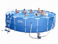 Bestway Metal Frame Pool Komplett Set 549x122 56462