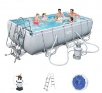 Bestway Power Steel Pool Set 404 x 201 mit Sandfilter 56442