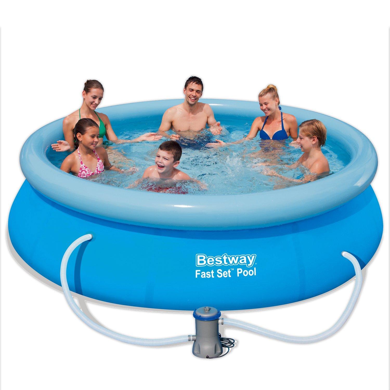 Bestway fast set pool 274x76cm pumpe 57272 fast set for Bestway pool ersatzteile