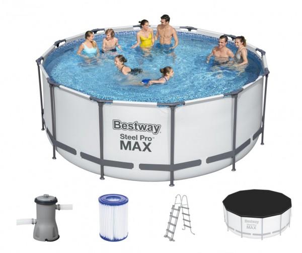 Bestway Steel Pro MAX Frame Pool 366x122 Komplettset 56420