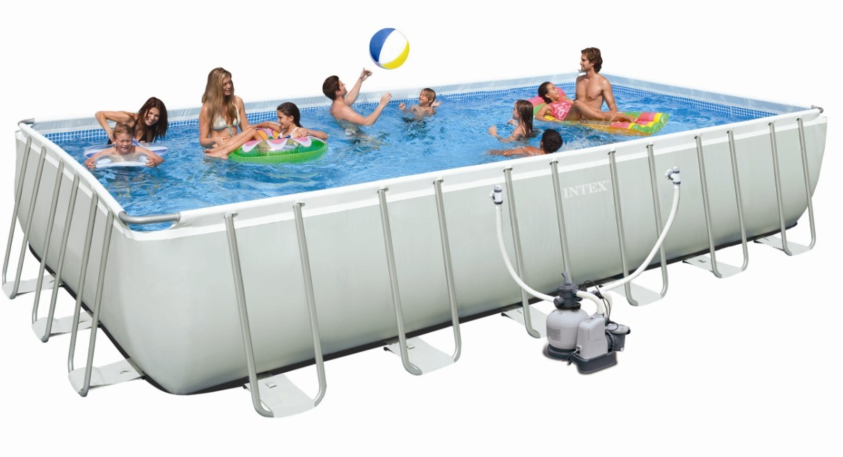INTEX Swimming Pool Ultra-Frame 732x366x132 + Chlorinator 26366
