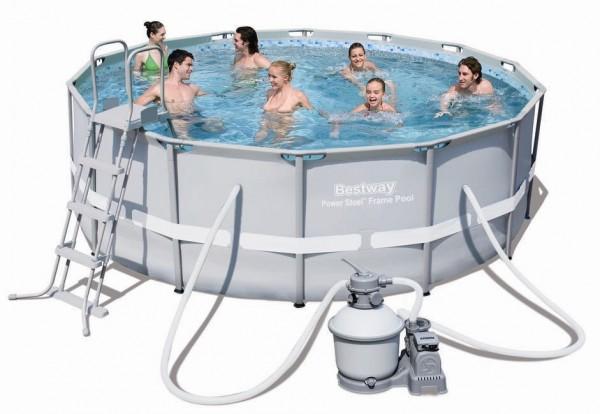 Bestway Steel Pro Pool Set 427x122 mit Sandfilter 56478