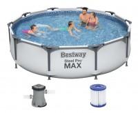 Bestway Steel Pro MAX Frame Pool 305x76cm+Pumpe 56408