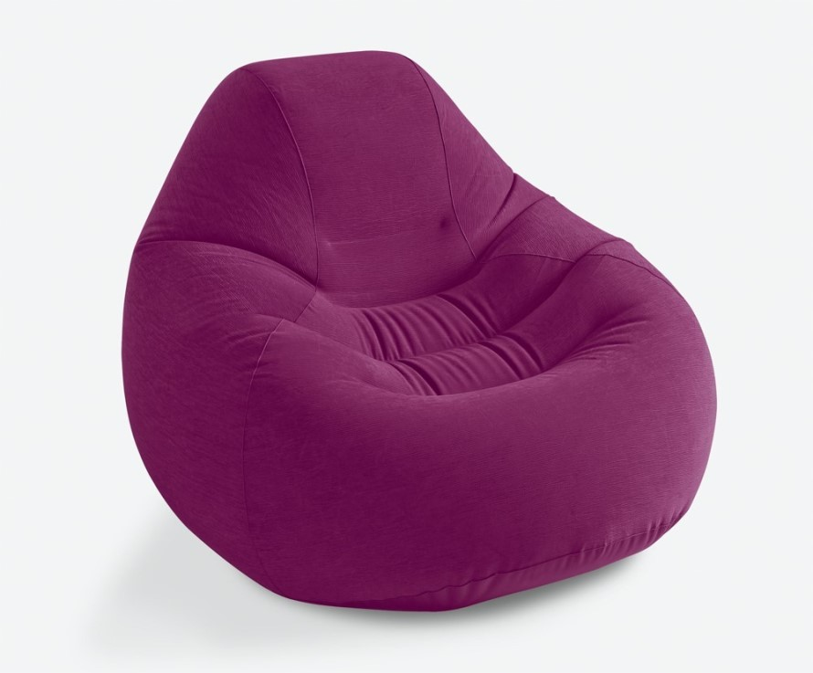 INTEX Deluxe Bag Chair aufblasbares Sitzkissen Royal Grape 68584