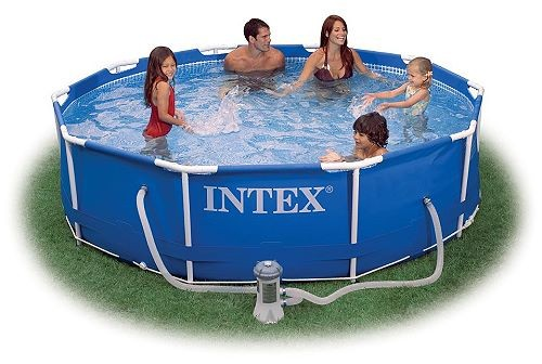 INTEX Swimming Pool Metal Frame 366x76cm + Pumpe 28212 GS
