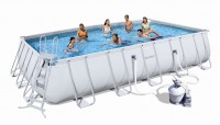 Bestway Rectangular Frame Pool Set 671 x 366 + Sandfilter 56278
