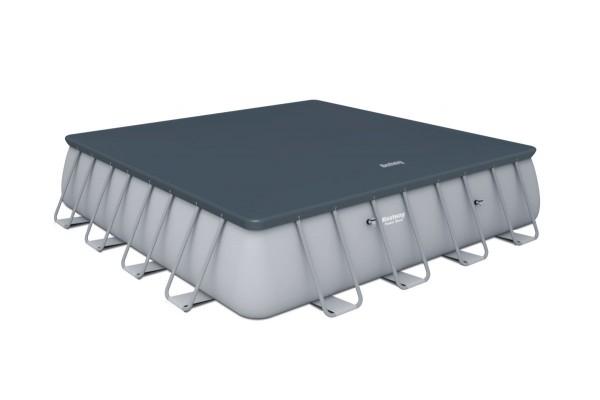 Bestway Abdeckplane für Power Steel Square Pool Set 488 58457