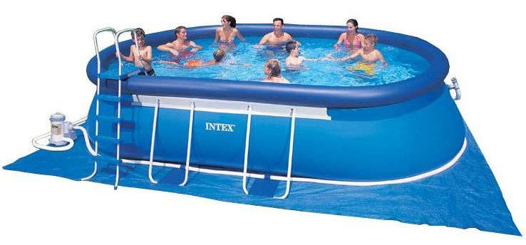 intex swimming pool oval frame 366x610x122 eco 28194 gs oval frame pools hersteller intex. Black Bedroom Furniture Sets. Home Design Ideas