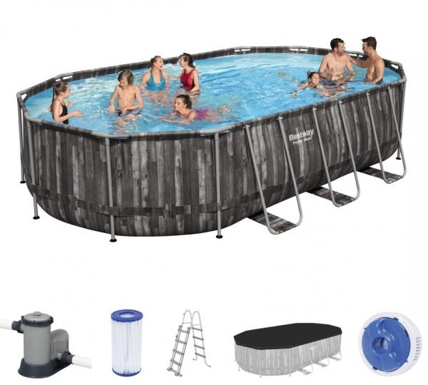 Bestway Power Steel Oval Frame Pool Set 610 x 366 5611R