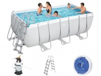 Bestway Power Steel Pool Set 412 x 201 mit Sandfilter 56457