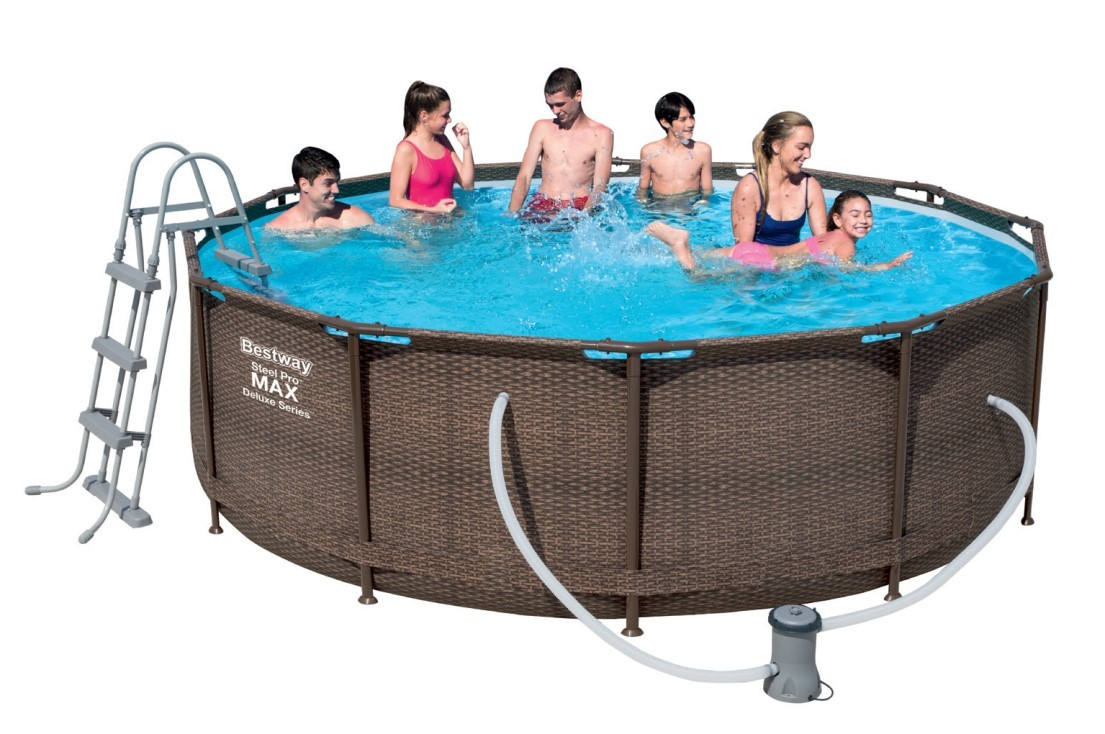 Bestway Steel Pro Pool Set 366x100 Rattan 56709