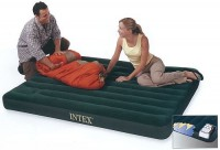 INTEX Luftbett Downy TWIN + Fußpumpe 66927