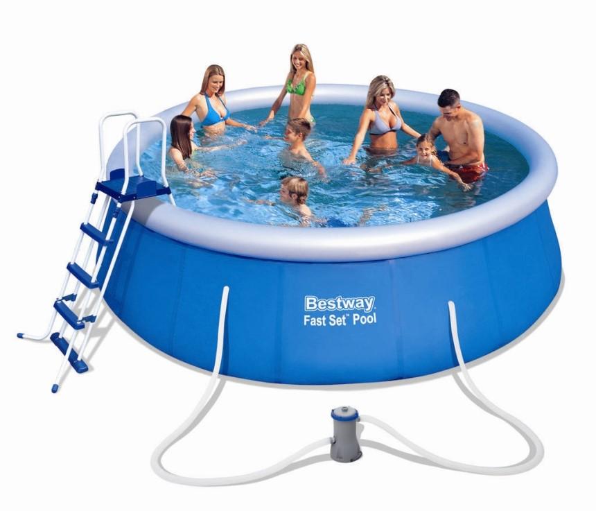 Bestway fast set pool komplett set 457x122 57289 fast for Bestway pool ersatzteile