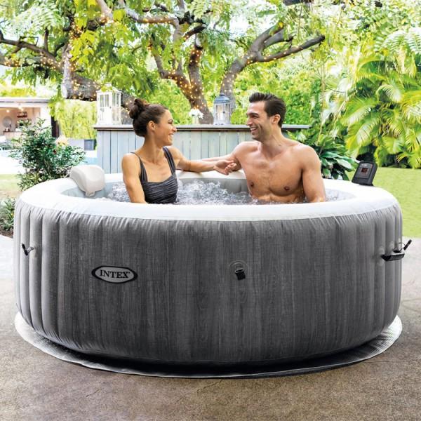 Whirlpool Intex Pure SPA Bubble GreyWood Deluxe 28440
